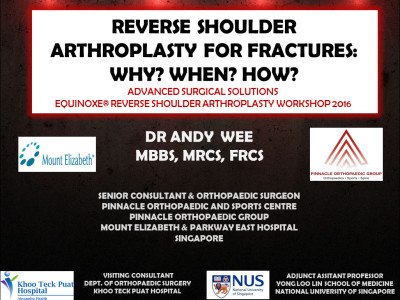 Equinoxe Reverse Shoulder Arthroplasty Workshop at Singapore Orthopaedic Association 39th ASM