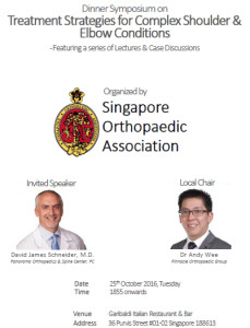 Shoulder & Elbow Dinner Symposium Singapore