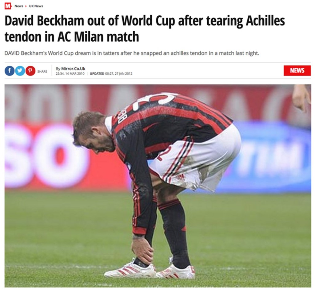 Achilles tendon David Beckham