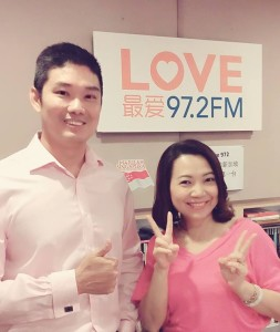 Dr Kevin Lee with Love972 DJ Violet Fenying