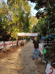 Dr Andy Wee at OCBC Cycle National MTB Championship.