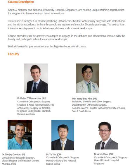 Shoulder Arthroscopy Master Course Details