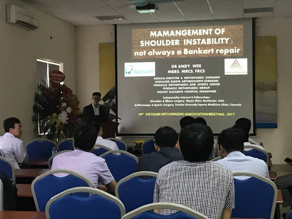 Invited Speaker at the 16th Annual Vietnam Orthopaedic Association Meeting.