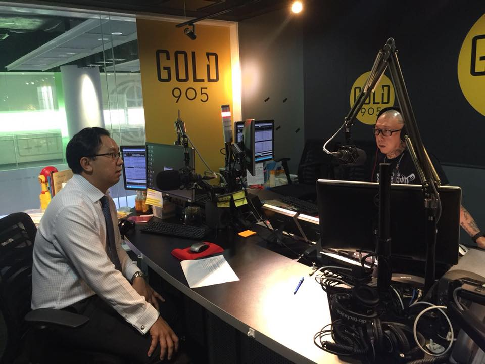 Dr Victor Seah Gold FM 90.5 a