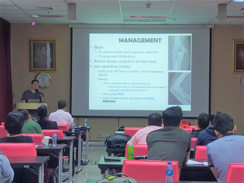 Dr Andy Wee was sharing his expertise in the management of shoulder and elbow injuries