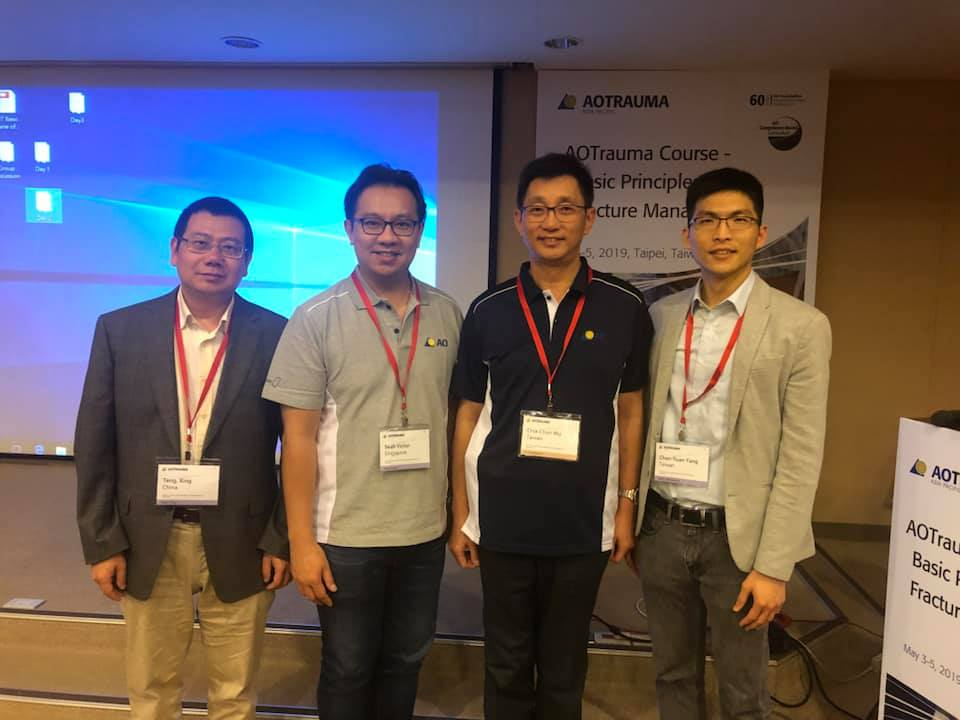 Second from left Dr Victor Seah